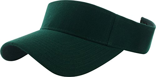 Dealstock Plain Men Women Sport Sun Visor One Size Adjustable Cap (29+ Colors) Jungle Green