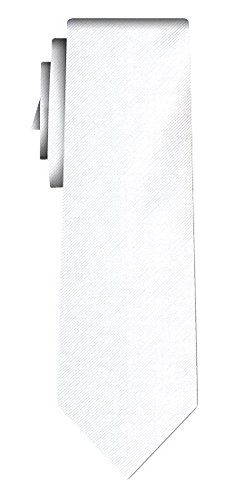 Cravate unie solid snow white twill texture/teflon