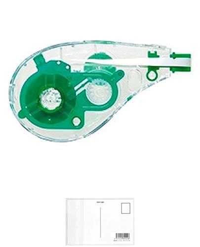トンボ鉛筆 モノエルゴ用カートリッジ幅4.2mmクリア緑10個 + 画材屋ドットコム ポストカードA
