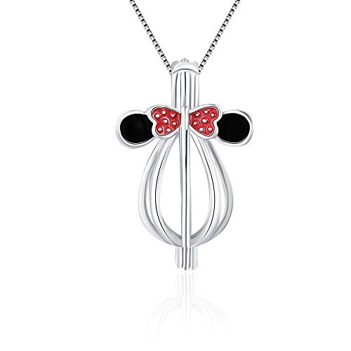 LGSY Mini Mouse Cage Pendants for Pearl Jewelry...