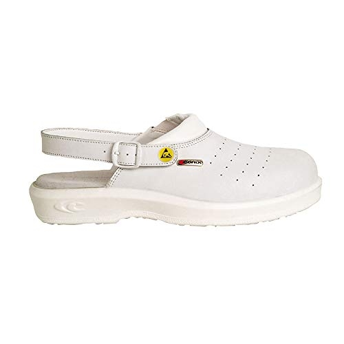 COFRA 75031-006.W47 JOSEPH - Sandalias de seguridad, SB E A FO ESD SRC, color blanco, talla 47