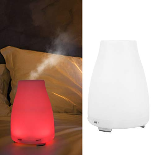 Humidificador de niebla, con difusor de aroma de luz nocturna LED, sala de estar de dormitorio de 200 ml para oficina en casa(Transl)