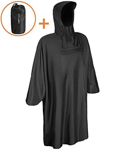 KSP-Tec Regenponcho für Damen & Herren Regenschutz mit 3000mm Wassersäule Regencape Regen Poncho für Fahrrad, Wandern, Angeln und Reiten