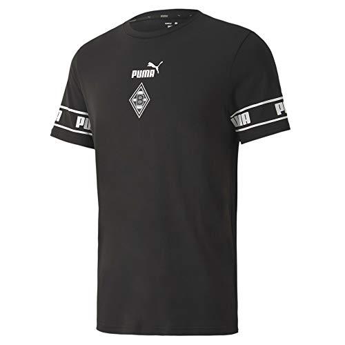 PUMA Borussia Mönchengladbach FtblCulture T-Shirt Herren schwarz/weiß, XL