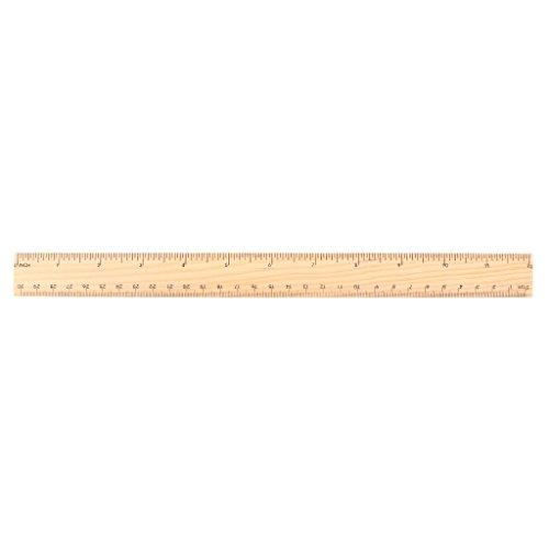 Regla de madera de 15 cm, 20 cm, 30 cm, regla de madera de doble cara para estudiantes, escuela, oficina, herramienta de medición 30cm