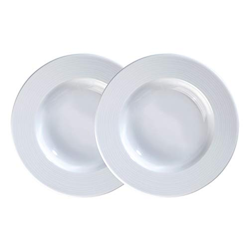 Kahla Nature Vajilla de porcelana de 22,5 cm, color blanco