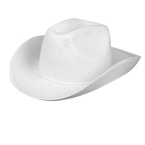 Boland 04072 - sombrero de vaquero adulto, Einheitsgröߟe, blanco