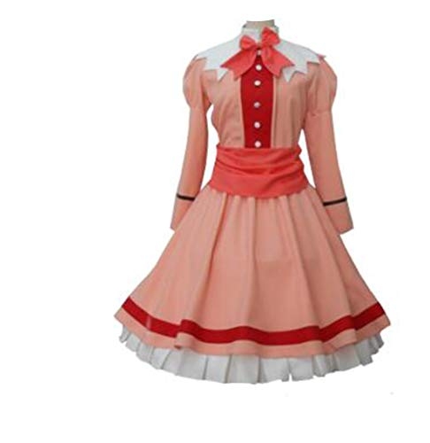 HXMCOS Cosplay Costume Anime Elizabeth Midford Dress Party Halloween Carnival (Custom Made) Pink