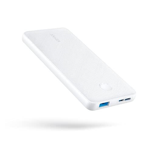 Anker PowerCore Slim 10000(モバイルバッテリー 大容量 薄型 10000mAh)【USB-C入力ポート/PSE技術基準適合/PowerIQ & VoltageBoost/低電流モード搭載】iPhone & Android 各種対応(ホワイト)