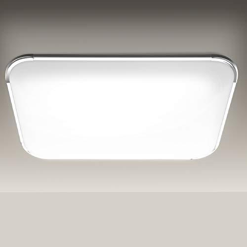 Hengda Plafoniera LED 48W Lampada da soffitto IP44 Bagno Luce Bianco Freddo 6500K per Sala da pranzo Camera da letto Bagno Cucina Balcone Corridoio