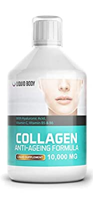 Liquid Body Mega Collagen (500ml) 10,000mg per serving Anti-Ageing Formula - Promotes healthy Skin,Hair,Nails & Joints - Delicious Berry Flavour - High Absorption Rate by Liquid Body