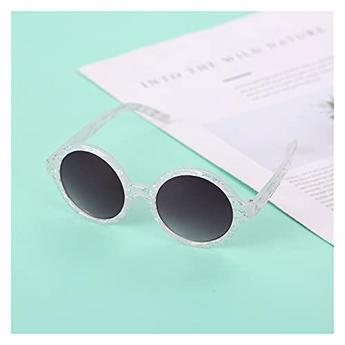 ZHEMAIE Gafas de Sol 1 unids Moda Retro Redondo niños Gafas de Sol niños niñas Gafas de Sol Vintage Chirldren Gafas de Sol Coloridas Baby Shades UV Gafas (Lenses Color : White)