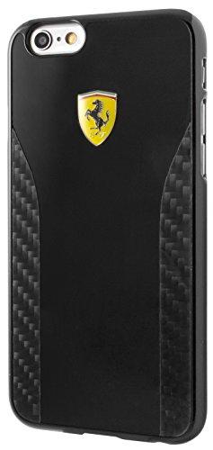 Ferrari fecchcp6bk Daytona Glossy Pittura e Vera Carbon Cover Rigida per Apple iPhone 6/6S Nero