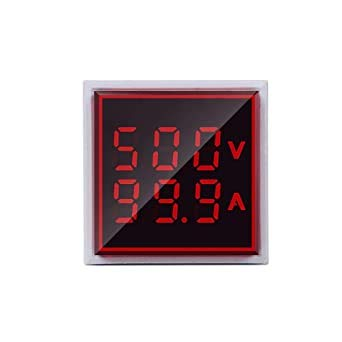 Microtail Direct AC Voltage/Current Meter LED Display Voltmeter-Ammeter Range 600V, 0-100A, (Red)