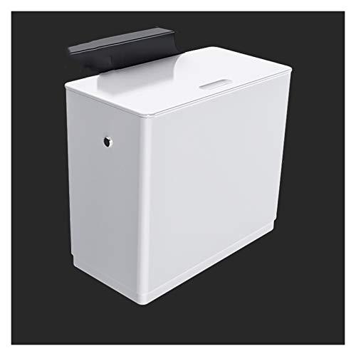 Papeleras Contenedor de residuos de deslizador montado en la pared que cuelga de basura con tapa para la tapa para la puerta del gabinete de la cocina pequeña debajo del lavabo del lavabo para el baño