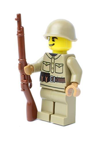 Russischer Soldat | Ausgerüstet mit BrickArms Mosin Nagant und Helm | Bedruckte Custom Figur