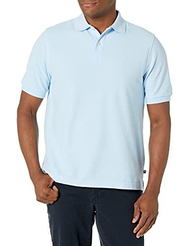 Lee Uniforms Teen-boysmen's Modern Fit Short Sleeve Polo Shirt, Light Blue, Small