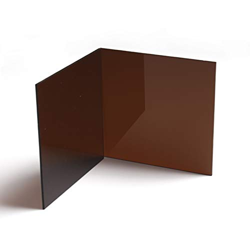 SQINAA Acrylic Sheet Brown Translucent Acrylic Board 400x400mm, Used for LED Lamp Holder Signs DIY Display Crafts,500x500x2mm