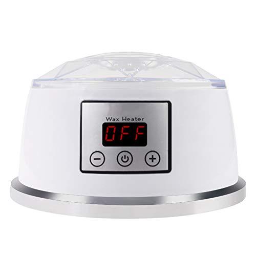 Yeah-hhi Calentador de Cera para el retiro del Pelo en el país, Temperatura Ajustable, con la exhibición de LED, Cubierta ventilada See-Through, para la Mano/la Cara/el Cuerpo Completo