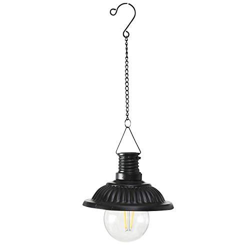 B.o.l.t.z.e LED-Solar Lampe Anutida schwarz Höhe 26 cm
