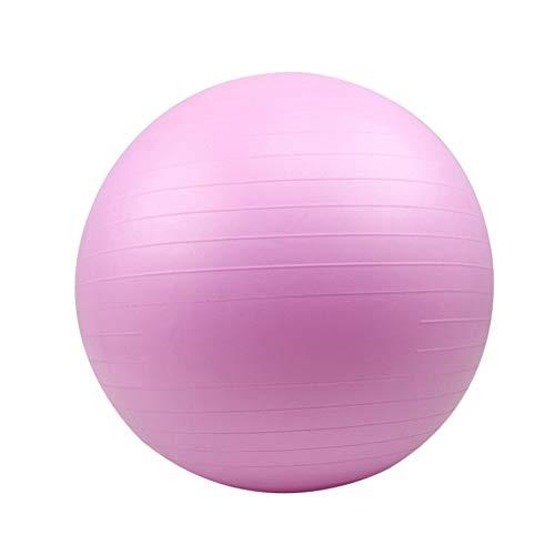 ABOOFAN Pelota auxiliar de Pilates Yoga PVC Fitness Ball a prueba de explosiones Pelota de ejercicio Balance Rosa (65cm)