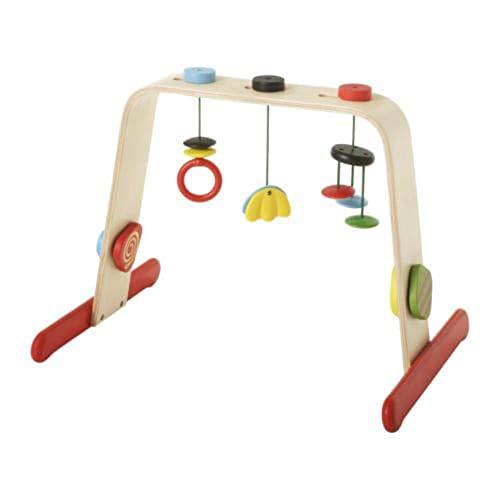 Baby Gym Bouleau/multicolore, taille assemblée largeur : 55 cm, hauteur : 43 cm, mouvement et contrastes nets stimulent la vue de bébé.