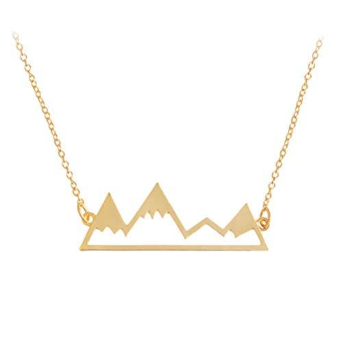 onedayday Berggipfel Snowboard Ski Winter Anhänger Halskette Schmuck Zubehör Für Outdoor Liebhaber Frauen Anhänger Party Geschenk @ Gold