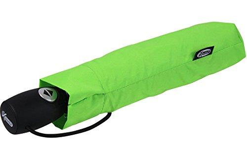 iX-brella Leichter Solider Taschenschirm mit Auf-Zu-Automatik - mid Class - neon-grün