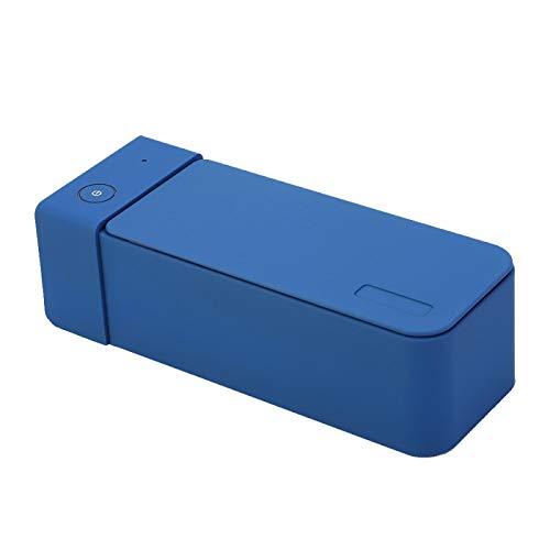Sonic 600ml Limpiador de dientes ultrasónico Mini lavadora Gafas Limpiador de relojes Azul oscuro