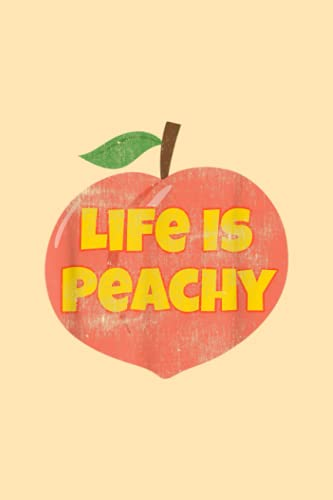Outfit Planner Log Book | Life Is Peachy Retro Style Distressed Funny Fruit Peach