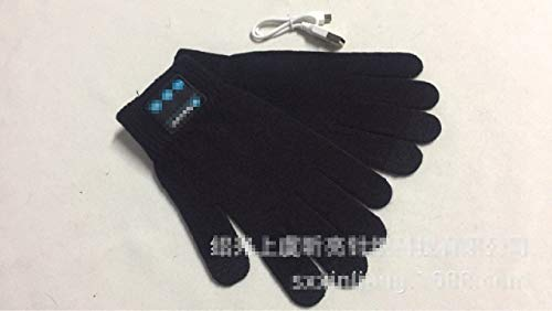 Handschoenen Bluetooth kan beantwoorden van de telefoon headset dual stereo muziek warme touch, kleur: rood