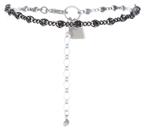 Konplott: Armband Magic Fireball mini grey, feines Gliederarmband mit kleinen runden Kristallen in grau, für Damen/Frauen