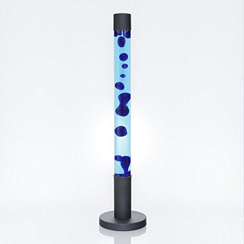 Design Lavalampe Zylinder XXL H:76cm Blau Stimmmungslicht Stehlampe Jugendzimmer Wohnzimmer ALAN