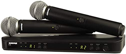 Shure BLX288/SM58 Dual Channel Wireless Microphone System with (2) SM58 Handheld Vocal Mics