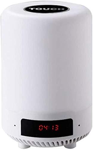 HZYD Veilleuse, Bluetooth Veilleuse sans Fil Tactile gradables Veilleuse Haut-Parleur Bluetooth Idéal for la Maison Chambre à Coucher Patio (Couleur: Blackcover), Nom Couleur: Powdercover