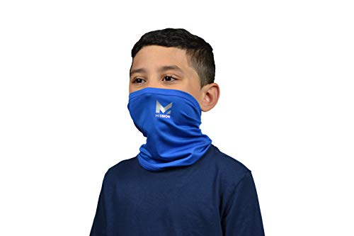 Mission Cooling Youth Neck Gaiter 6+ Ways to Wear, Face Mask, UPF 50, Cools When Wet- Mission Blue