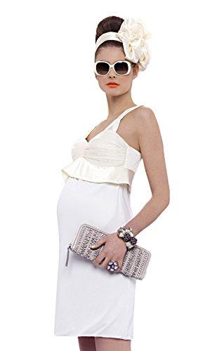 Pietro brunelli brautkleid/robe de soirée & hochzeitskleid 100% soie umstandsmode umstandsbrautkleid robe pour femme - Ecru - Ecru, 36