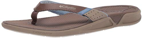 Columbia Damen Rostra PFG Flipflop, Dark Brown/Dark Mirage, 44.5 EU
