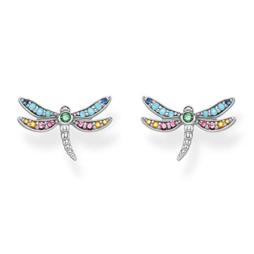 Thomas Sabo ladies-ear studs dragonfly 925 Sterling silver blackened H2051-314-7