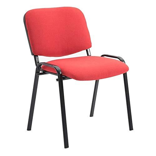 JJSFJH Sillas de Oficina del Ministerio del Interior sillas de Escritorio, Silla de Espesar Conferencia de Prensa multifunción hogar Silla de Comedor de tareas butaca (Color : Red)