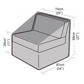 Digebis Funda Easy-Cover MODULO Central Grande Muebles de Patio