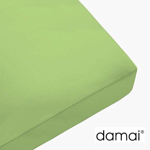 Damai Damai Nightkiss Topper hoeslaken Lime - 9-15cm met elastiek - 80 x 210 cm 100% katoen