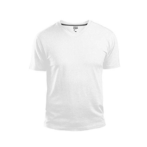 GAP Men's V Neck Cotton T Shirt Everyday Quotidien Solid Color (White, Medium)