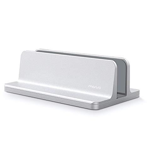 MOSISO Supporto Verticale per Laptop, Supporto da Tavolo in Lega di Alluminio Salvaspazio Compatibile on iPad PRO/MacBook Air/MacBook PRO/Surface PRO e Altri Laptop Notebook,Argento
