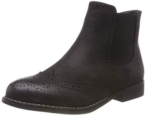 Rieker Damen 98791 Chelsea Boots, Schwarz (Schwarz 00), 37 EU