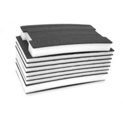 FastCap 30MMB-W 30-MM Thick 2' by 4' Kaizen White/Black Foam, 2PK