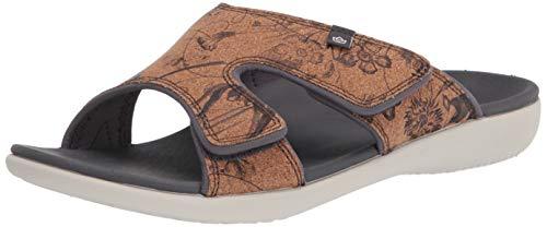 Spenco womens Slide Sandal, Black, 11 US