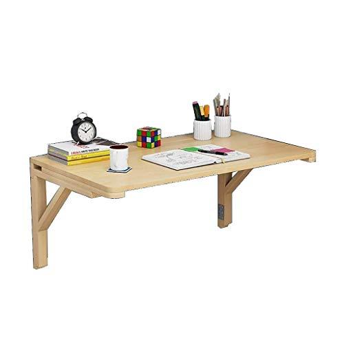 DNSJB Vierkante klaptafel, Wandgemonteerde Tafelopklaptafel, Opvouwbare Houten Tafel, Stabiele Stevige Constructie, Drop Leaf Tafels voor Kleine Ruimtes