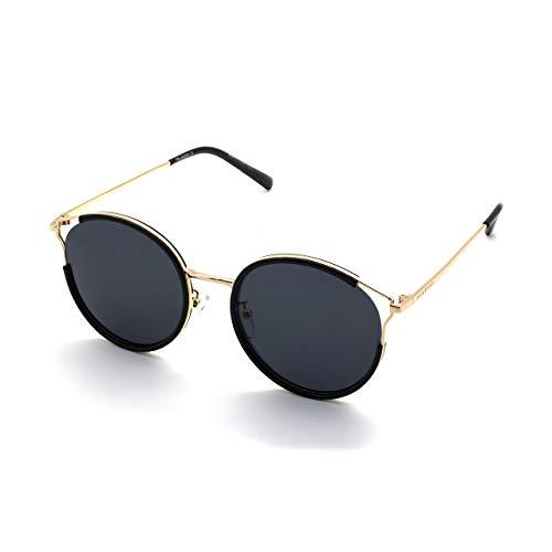 PERXEUS SEOUL - Gafas de Sol para mujer. Ligeras y Resistentes - Protección UV400 + Lentes Polarizadas. [Gafas Negras]
