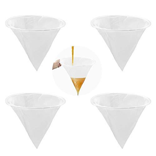 Yangfei 4 Pezzi Filtro per Miele Filtro Miele per Apicoltura Strumento per Miele Filtro in Nylon Rete per Apicoltura per Miele per la Lavorazione del Miele/Estrazione e Filtro